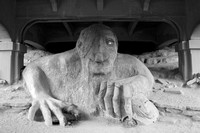 The Fremont Troll under the Aurora Avenue Bridge in Seattle