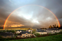 Full rainbow in Trossachs